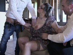 Gangbang, older Women, Mature in Gangbang, Stocking Sex Stockings Cougar Fuck