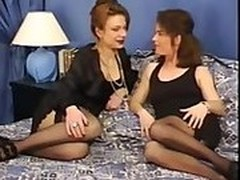 lesbians, Husband Watches Wife Gangbang, Handjob While Watching Porn