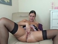 Huge Dildo, hole, Real, Unshaved Pussy
