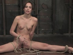 Hogtied, cumming, Perfect Body Teen Solo, Anal Torture