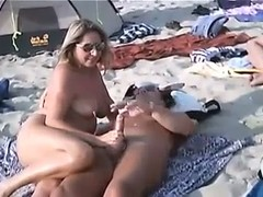 Beach, Barebreasted Cutie, Handjob, Nude, Perfect Body Teen, Dirty Slut, Watching Wife Fuck